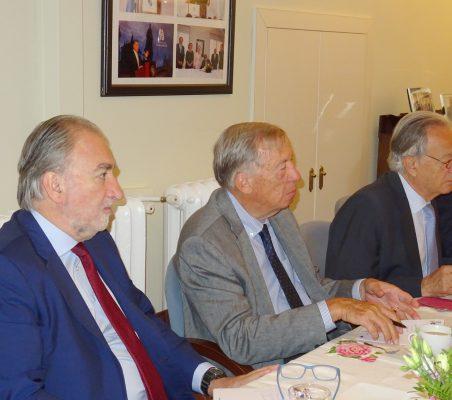 José María Beneyto, Carsten Moser y Ángel Durández