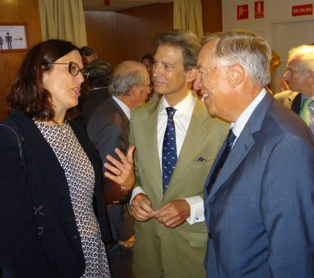 Cecilia Malmström, José Ignacio Salafranca y Carsten Moser