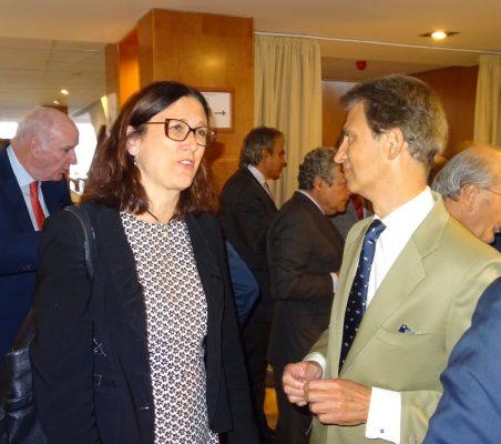 Cecilia Malmström y José Ignacio Salafranca