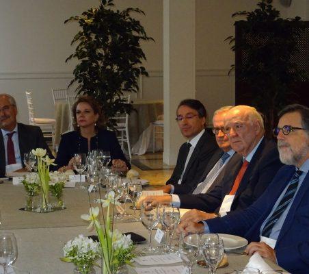 Francisco Fonseca, Ana Helena Chacón, Héctor Flórez, Carlos Gómez- Mújica, José Antonio García Belaunde y Miguel López Quesada
