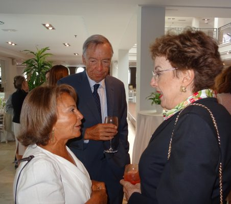 Luisa Peña, Carsten Moser y Roberta Lajous