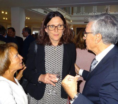 Luisa Peña, Cecilia Malmström y Ramón Jáuregui