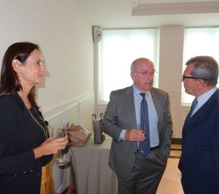 María Andrés Marín, Joaquín Almunia y Santiago Martínez Lage