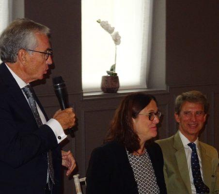 Ramón Jáuregui, Cecilia Malmström y José Ignacio Salafranca