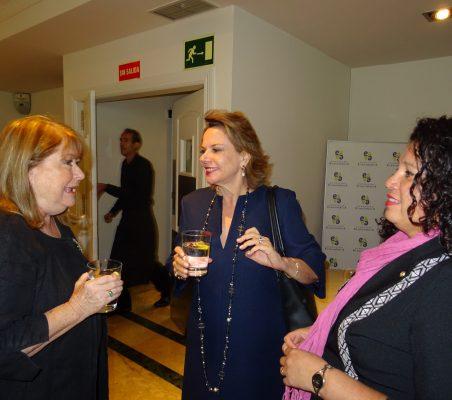 Susana Malcorra, Ana Helena Chacón y Liz Coronel