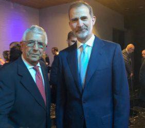 Fernando Labrada, Colaborador de nuestra Fundación, con S.M. el Rey