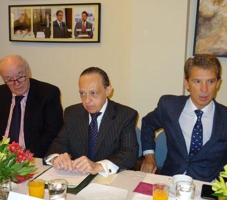 José Antonio García Belaúnde, Pompeu Andreucci Neto y José Ignacio Salafranca