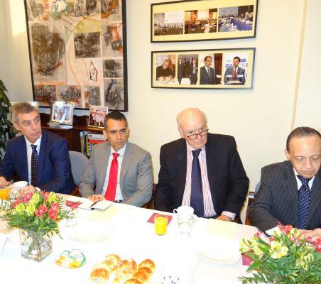 Luis Giralt, Carlos Santana, José Antonio García Belaunde y Pompeu Andreucci Neto