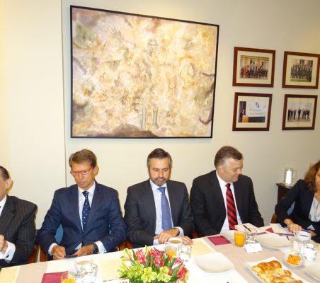Pompeu Andreucci Neto, José Ignacio Salafranca, Rafael Duarte, Rafael Porto y Patricia Alfayate