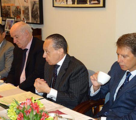 Carlos Santana, José Antonio García Belaúnde, Pompeu Andreucci Neto y  José Ignacio Salafranca