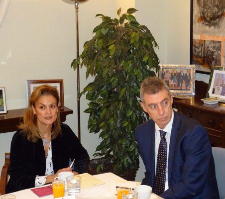 Renata Dutra y Luis Giralt