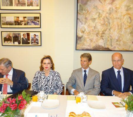 Enrique Barón, Ana Helena Chacón, José Ignacio Salafranca y José María Torroja
