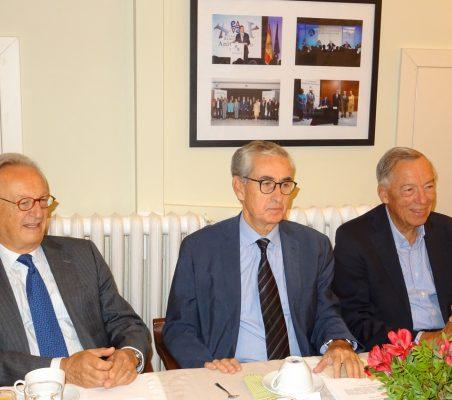 Ángel Durández, Ramón Jáuregui y Carsten Moser