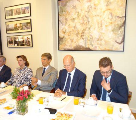 Enrique Barón, Ana Helena Chacón, José Ignacio Salafranca, José María Torroja y Alberto Furlan
