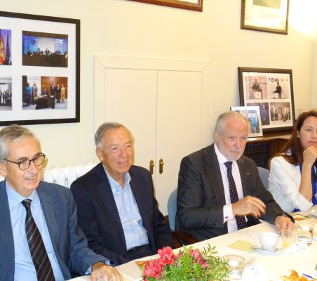 Ramón Jáuregui, Carsten Moser, José Luis López-Schümmer y Soraya Gamonal