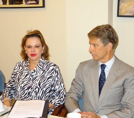 Ana Helena Chacón y José Ignacio Salafranca