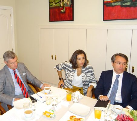 Claudio Vallejo, María Lahore y Héctor Flórez