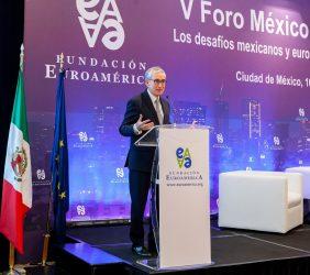 El Presidente de la Fundación Euroamérica en la inauguración del V Foro México-UE
