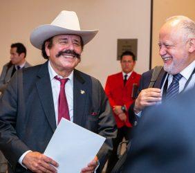 El Senador Santana y Abel Hibert