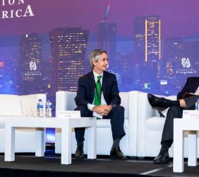 José Enrique Alba, Iberdrola, y Abel Hibert, Presidencia de la República