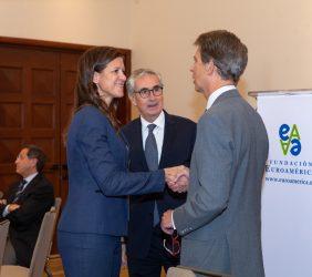 María Victoria Zingoni, Ramón Jáuregui y José Ignacio Salafranca