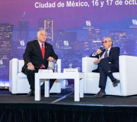 Miguel Torruco Márqués, Secretario de Turismo, y Ramón Jáuregui