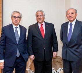 Ramón Jáuregui, Presidente de la Fundación Euroamérica, Secretario de Turismo, Miguel Torruco y Subsecretario de Turismo y Humberto Hernández Haddad