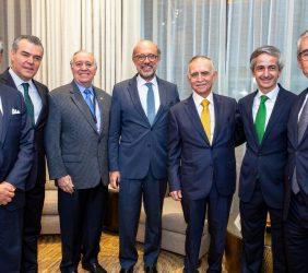 Sergio Contreras, Francisco Cervantes, Valentín Diez-Morodo, Embajador López-Dóriga, José E. Alba y Ramón Jáuregui
