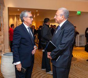 Ramón Jáuregui, Presiente de la Fundación Euroamérica, junto al Subsecretario de Turismo, Humberto Hernández Haddad