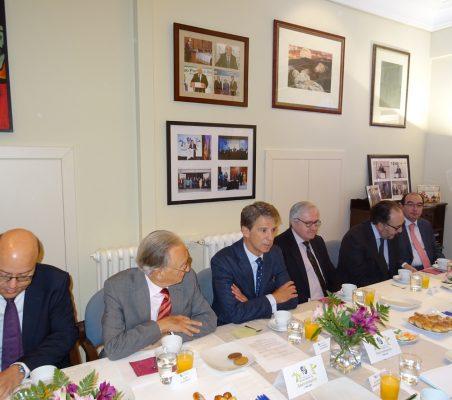 Víctor Baz, Ángel Durández, José Ignacio Salafranca, Carlos Gómez-Múgica, Carlos López Blanco y Carlos Ávila