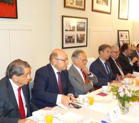 Jean Fribourg, Víctor Baz, Ángel Durández, José Ignacio Salafranca, Carlos Gómez-Múgica, Carlos López Blanco y Carlos Ávila
