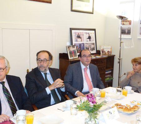 Carlos Gómez-Múgica, Carlos López Blanco, Carlos Ávila y Luisa Peña