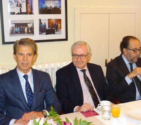 José Ignacio Salafranca, Carlos Gómez-Múgica y Carlos López Blanco