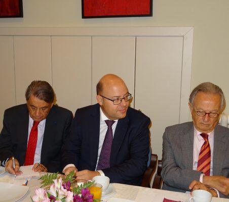 Jean Fribourg, Víctor Baz y Ángel Durández