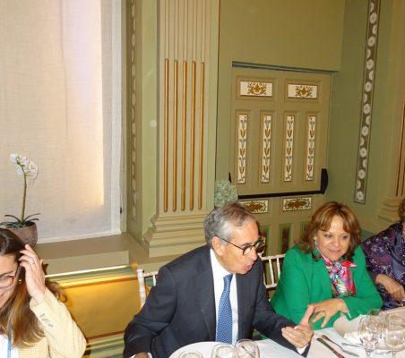María Abascal, Ramón Jáuregui, Martha Delgado y Roberta Lajous