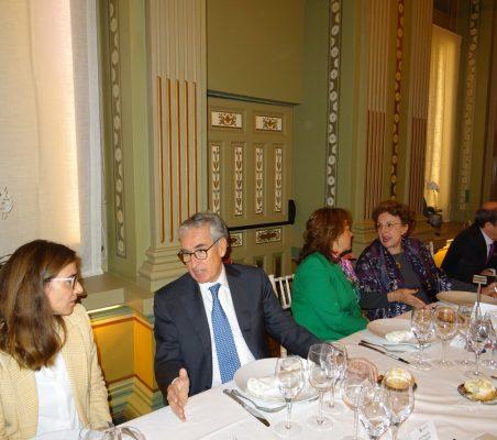María Abascal, Ramón Jáuregui, Martha Delgado, Roberta Lajous y Antonio Sánchez Bustamante