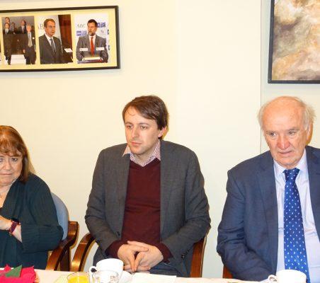 Susana Malcorra, Javi López y José Antonio García Belaunde