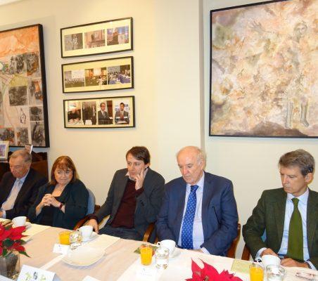 Carsten Moser, Susana Malcorra, Javi López, José Antonio García Belaunde y José Ignacio Salafranca