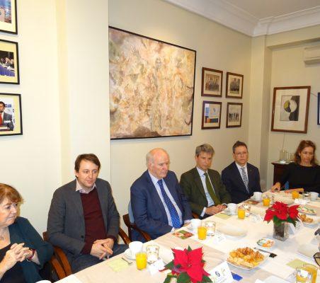 Susana Malcorra, Javi López, José Antonio García Belaunde, José Ignacio Salafranca, Damián Castaño y Patricia Alfayate