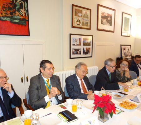 Almerino Furlan, José Humberto Solorza, Ángel Durández, Ramón Jáuregui, Cecilia Yuste y Óscar Díaz-Canel