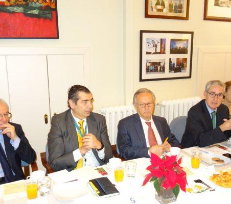 Almerino Furlan, José Humberto Solorza, Ángel Durández, Ramón Jáuregui y Cecilia Yuste