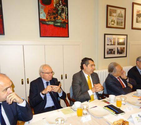 Rafael Sánchez, Almerino Furlan, José Humberto Solorza, Ángel Durández y Ramón Jáuregui