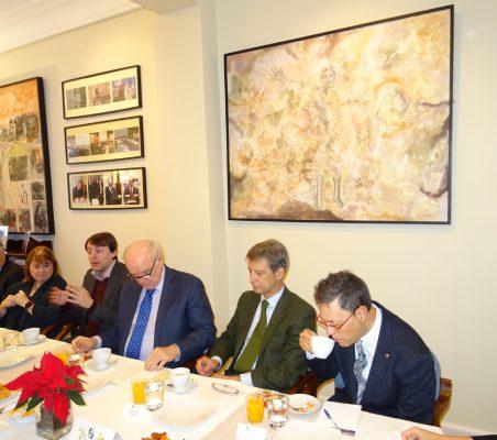 Carsten Moser, Susana Malcorra, Javi López, José Antonio García Belaunde, José Ignacio Salafranca y Damián Castaño