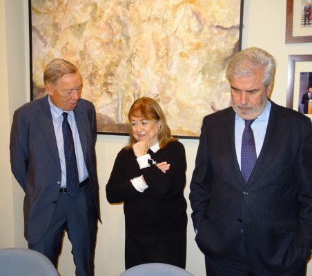 Carsten Moser, Susana Malcorra y Gonzalo Babé