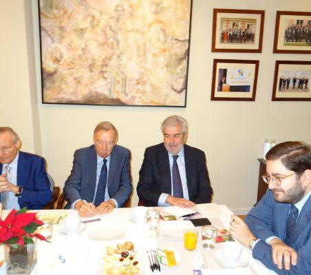 Josep Piqué, Carsten Moser, Gonzalo Babé y Manuel Muñiz