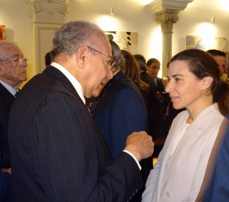 Humberto Hernández Haddad y María Abascal
