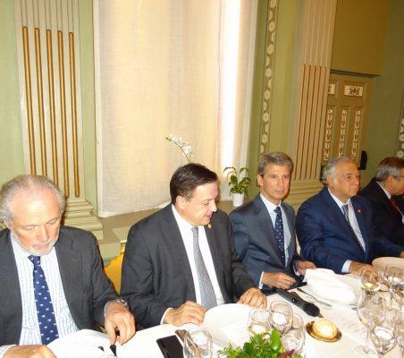 José Luis López-Schümmer, Luis Alegre, José Ignacio Salafranca, Miguel Torruco y José Carlos García de Quevedo