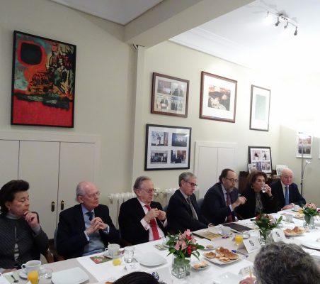 Antonieta Mendoza de López, Ignacio Buqueras, Ángel Durández, Ramón Jáuregui, Carlos López Blanco, Mª Salvadora Ortiz y Emilio Gilolmo