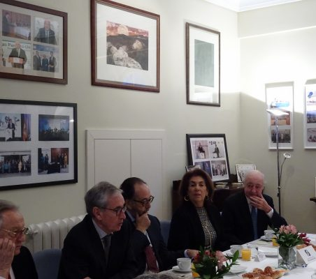 Ángel Durández, Ramón Jáuregui, Carlos López Blanco, Mª Salvadora Ortiz y Emilio Gilolmo