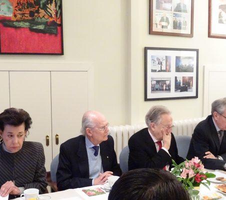Antonieta Mendoza de López, Ignacio Buqueras, Ángel Durández, Ramón Jáuregui, y Carlos López Blanco